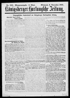 Königsberger Hartungsche Zeitung vom 06.11.1912