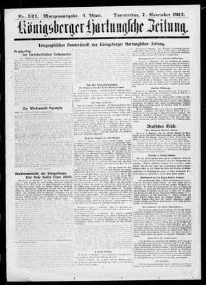 Königsberger Hartungsche Zeitung vom 07.11.1912