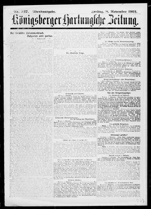 Königsberger Hartungsche Zeitung vom 08.11.1912