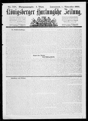 Königsberger Hartungsche Zeitung vom 09.11.1912