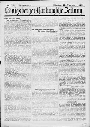 Königsberger Hartungsche Zeitung vom 11.11.1912