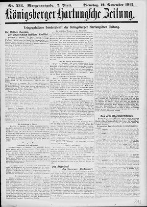 Königsberger Hartungsche Zeitung vom 12.11.1912