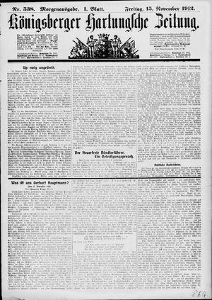 Königsberger Hartungsche Zeitung vom 15.11.1912