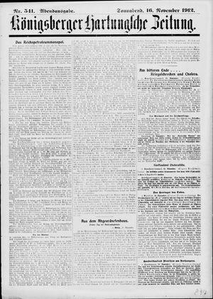 Königsberger Hartungsche Zeitung vom 16.11.1912