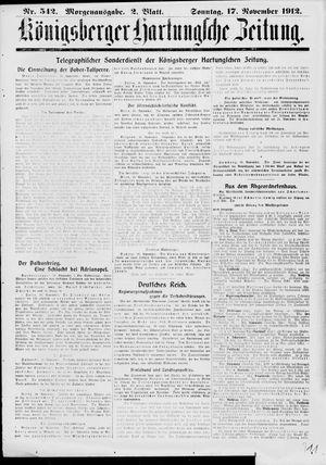 Königsberger Hartungsche Zeitung vom 17.11.1912