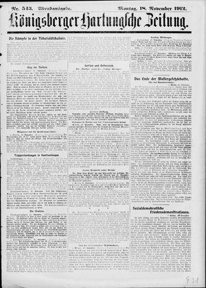 Königsberger Hartungsche Zeitung on Nov 18, 1912