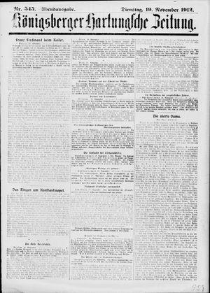 Königsberger Hartungsche Zeitung vom 19.11.1912