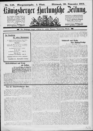 Königsberger Hartungsche Zeitung on Nov 20, 1912