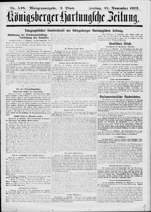Königsberger Hartungsche Zeitung vom 22.11.1912