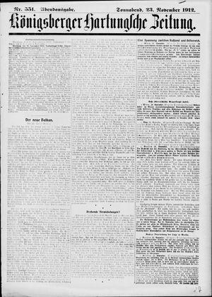 Königsberger Hartungsche Zeitung vom 23.11.1912
