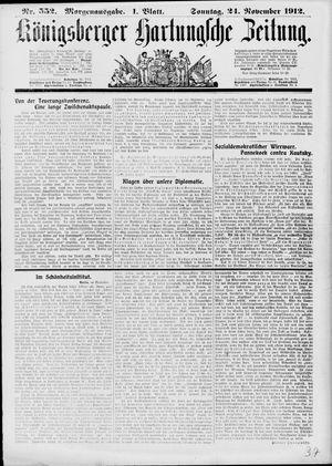 Königsberger Hartungsche Zeitung on Nov 24, 1912