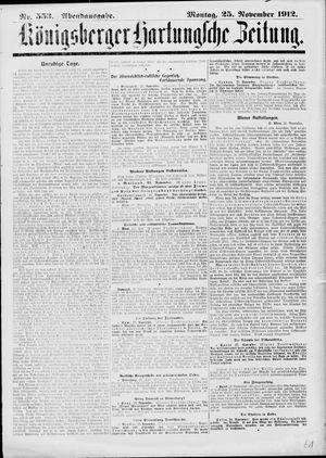 Königsberger Hartungsche Zeitung on Nov 25, 1912