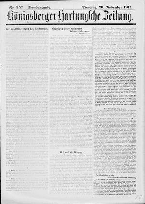 Königsberger Hartungsche Zeitung vom 26.11.1912