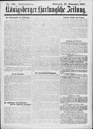 Königsberger Hartungsche Zeitung vom 27.11.1912