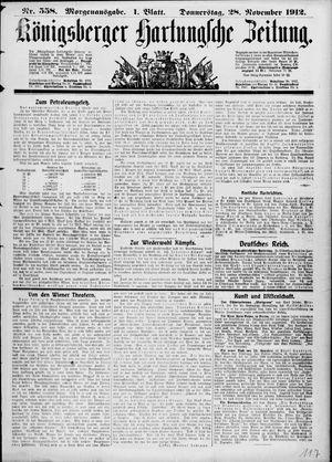 Königsberger Hartungsche Zeitung vom 28.11.1912
