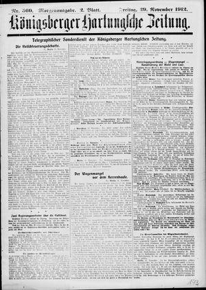 Königsberger Hartungsche Zeitung vom 29.11.1912
