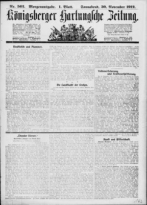 Königsberger Hartungsche Zeitung on Nov 30, 1912