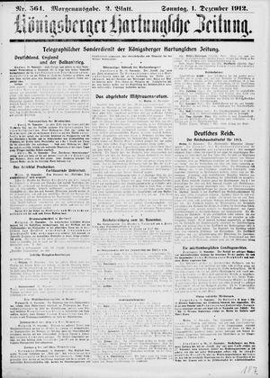 Königsberger Hartungsche Zeitung vom 01.12.1912