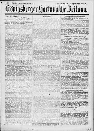 Königsberger Hartungsche Zeitung vom 02.12.1912