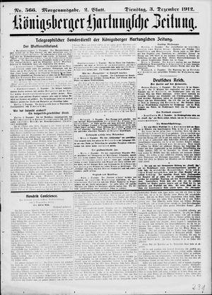 Königsberger Hartungsche Zeitung on Dec 3, 1912