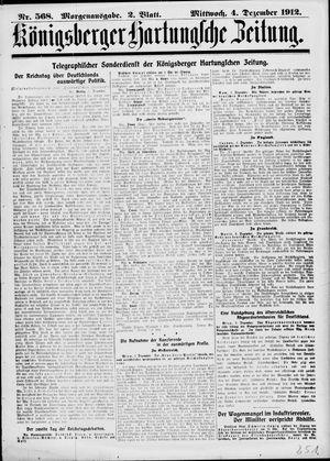 Königsberger Hartungsche Zeitung vom 04.12.1912