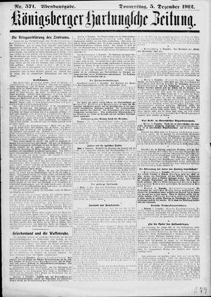Königsberger Hartungsche Zeitung vom 05.12.1912
