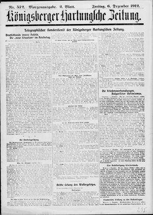 Königsberger Hartungsche Zeitung vom 06.12.1912