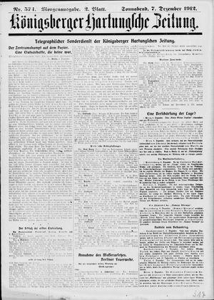Königsberger Hartungsche Zeitung vom 07.12.1912