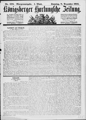 Königsberger Hartungsche Zeitung vom 08.12.1912