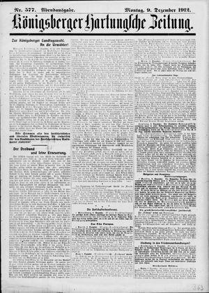 Königsberger Hartungsche Zeitung vom 09.12.1912