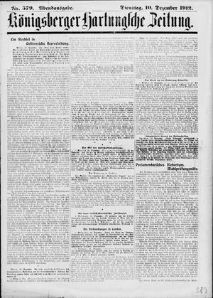 Königsberger Hartungsche Zeitung vom 10.12.1912