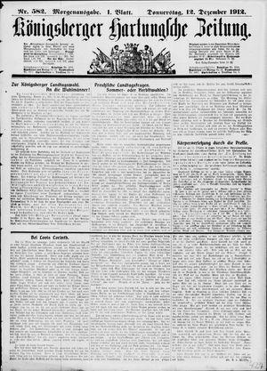 Königsberger Hartungsche Zeitung vom 12.12.1912