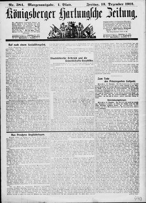 Königsberger Hartungsche Zeitung vom 13.12.1912