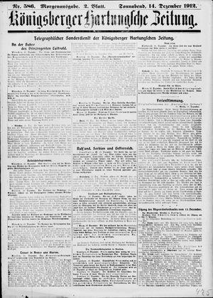 Königsberger Hartungsche Zeitung vom 14.12.1912