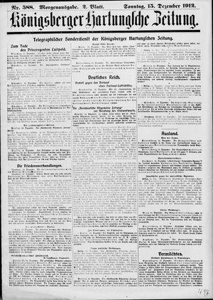 Königsberger Hartungsche Zeitung vom 15.12.1912