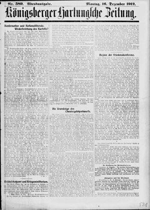Königsberger Hartungsche Zeitung vom 16.12.1912