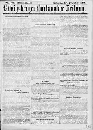 Königsberger Hartungsche Zeitung vom 17.12.1912