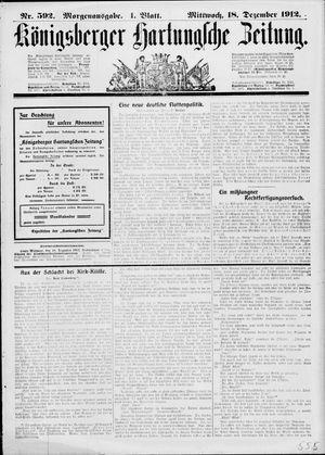 Königsberger Hartungsche Zeitung vom 18.12.1912