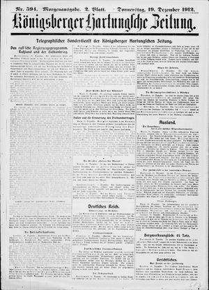 Königsberger Hartungsche Zeitung vom 19.12.1912