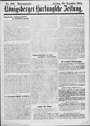 Königsberger Hartungsche Zeitung vom 20.12.1912