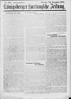 Königsberger Hartungsche Zeitung on Dec 23, 1912