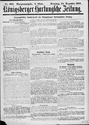 Königsberger Hartungsche Zeitung vom 24.12.1912