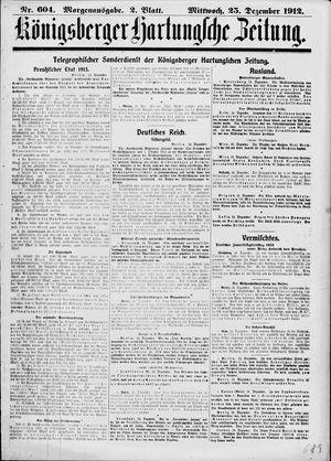 Königsberger Hartungsche Zeitung vom 25.12.1912