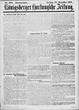 Königsberger Hartungsche Zeitung vom 27.12.1912