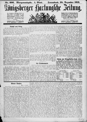 Königsberger Hartungsche Zeitung vom 28.12.1912