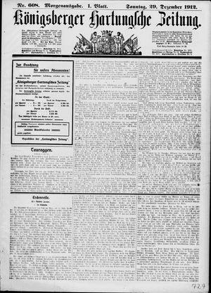 Königsberger Hartungsche Zeitung vom 29.12.1912