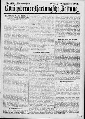 Königsberger Hartungsche Zeitung vom 30.12.1912