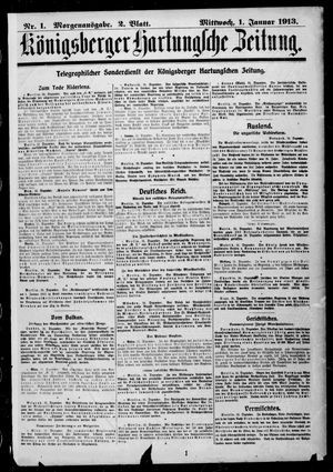 Königsberger Hartungsche Zeitung vom 01.01.1913