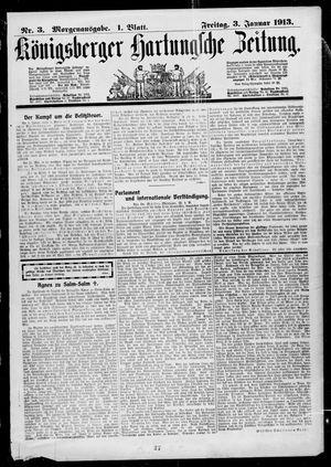 Königsberger Hartungsche Zeitung vom 03.01.1913
