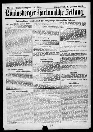 Königsberger Hartungsche Zeitung vom 04.01.1913